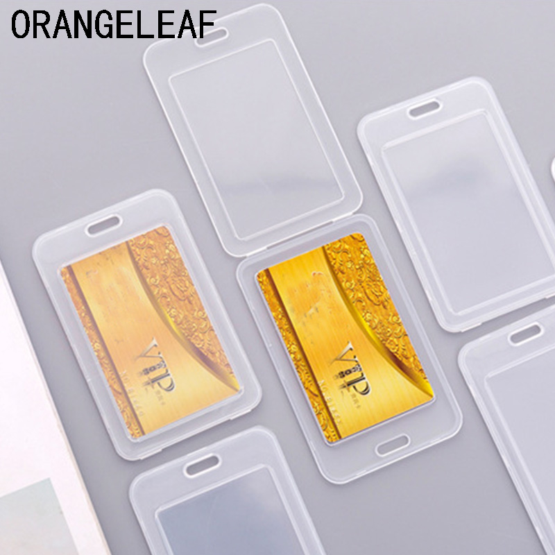 Thicken Waterproof Transparent PVC Card Cover Plastic Card Holder Case To Protect Credit Cards Bank ID Card Sleeve image