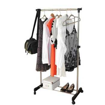 Coat Rack Stainless Steel Simple Assembly Can Be Removed Bedroom Move Clothes Hanger Drying Furniture Clothes Hanger Shoe Shelf - DISCOUNT ITEM  30 OFF All Category