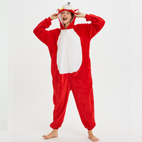 Unisex Adult Animal Pajamas Onesies Cosplay Large Cartoon Adult Onepiece Sleepwear Pajamas Onesies Halloween Christmas Costume