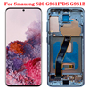 SUPER AMOLED For Samsung Galaxy S20 LCD Touch Screen G980 G980F G980F/DS LCD Display Touch Screen Digitizer With Frame