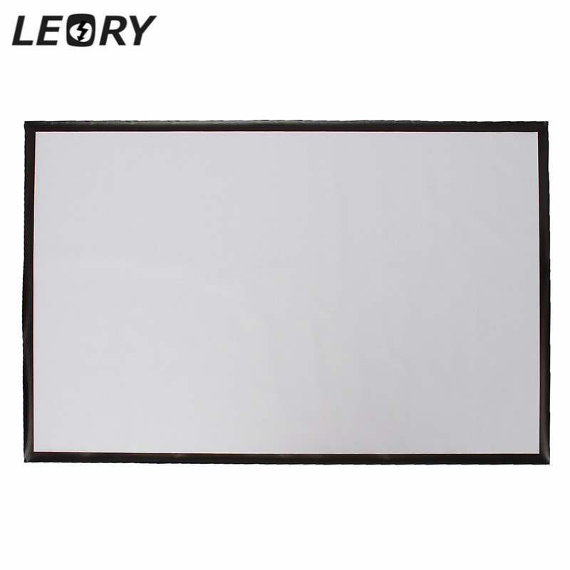 Portable Projector Accessorie Screen 100 Inch PVC Projection Screen Matt White Fabric For Home Theater Game Office Meeting 16:9