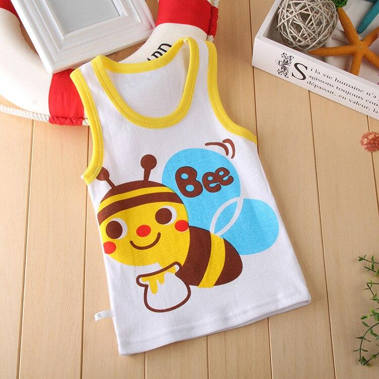 Детская одежда для маленьких мальчиков, футболка без рукавов, летняя одежда для маленьких девочек, повседневная хлопковая детская одежда с заниженной талией