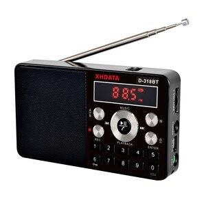 Image 3 - XHDATA D 318BT mini lecteur mp3 radio stéréo fm écran portable peut prendre en charge lenregistrement MP3 répétition fonction haut parleur avec carte TF