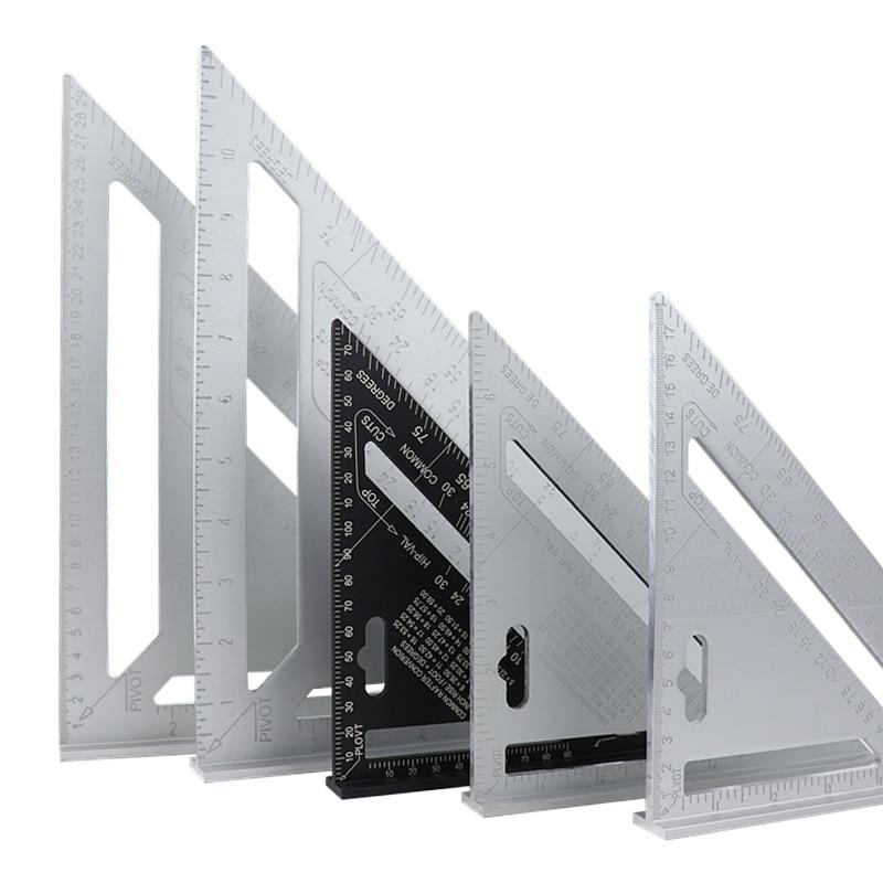 Треугольная фотометрическая линейка 7 дюймов/12 дюймов, транспортир для деревообработки, угломер, квадратная измерительная линейка для стро...