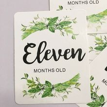 12 Pcs/Set Month Card Baby Monthly Newborn Photos Funny Cartoon Photography Photo Cards Stickers