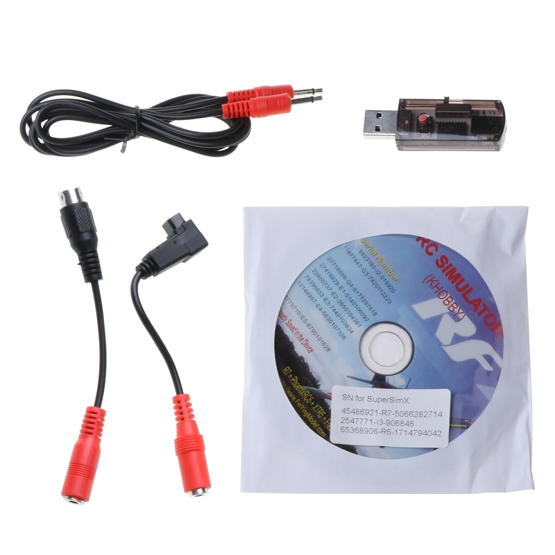 22 in 1 Simulator RC USB Flight Simulator Compact Disc Cable Support Realflight G7 Radio Aerofly FMS XTR
