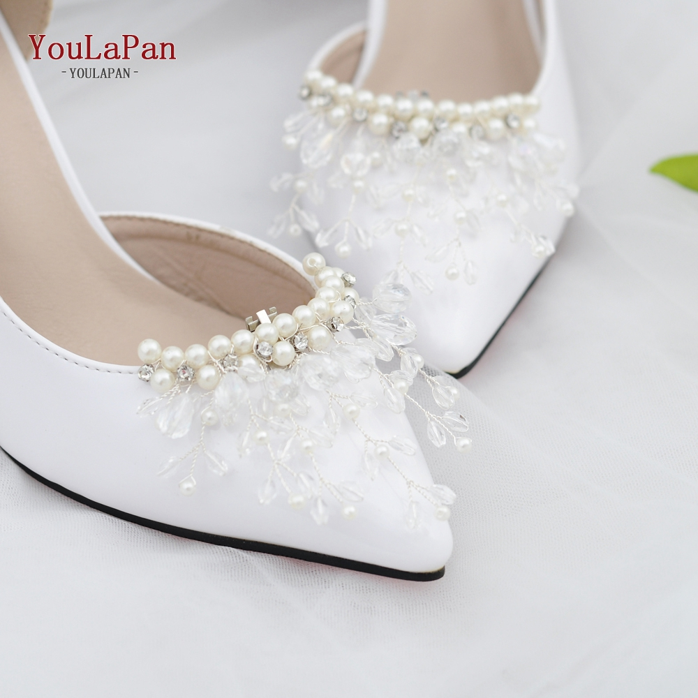 YOULAPAN X13 2pc/lot New Fashion Bride High Heel Decoration Shoe Clip Sliver Crystal Women Shoe Clip DIY High Heel Decoration