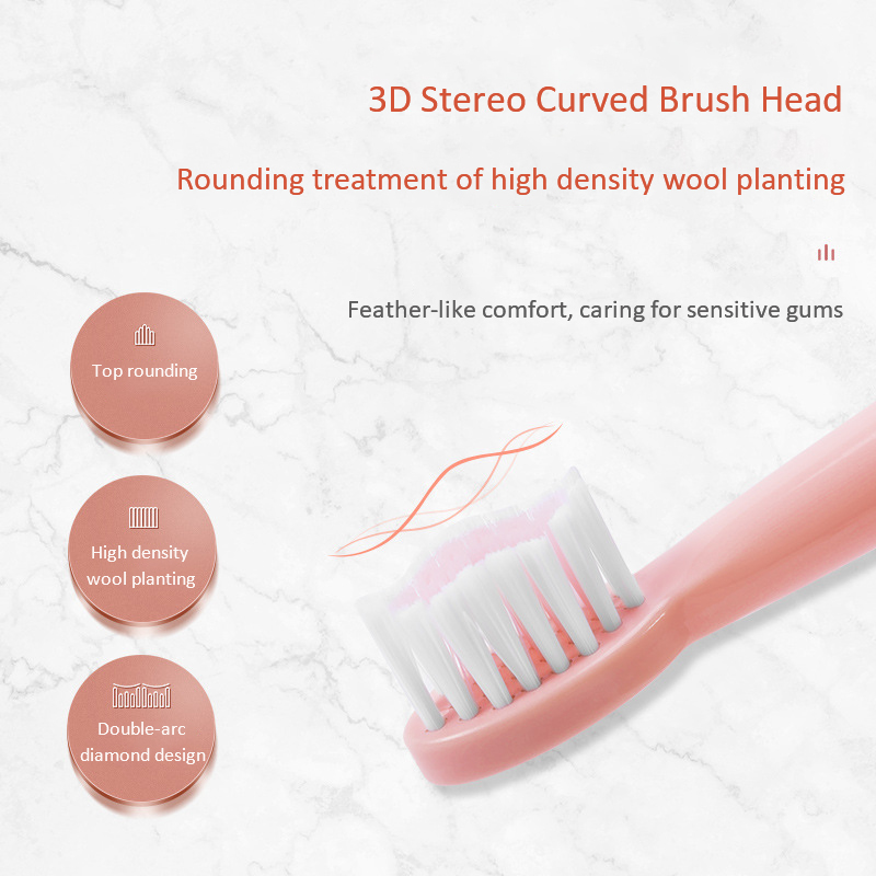 Multifunction Electric Toothbrush Soft Hair 6-Speed Adult USB Charging Ultrasonic Vibration Electric Toothbrush