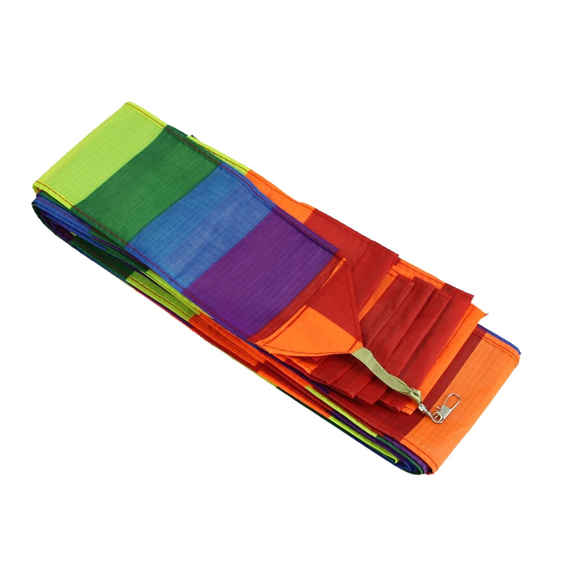 Super Nylon Stunt Kite Tail Rainbow Line Kite Accessory Kids Toy
