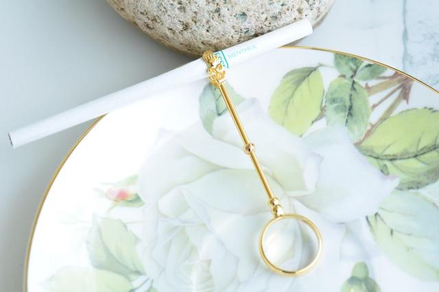 Elegante anillo de soporte para cigarrillo de señora Smoker (dorado, plateado), soporte Romo, anillo para dedo, accesorios para fumar c111