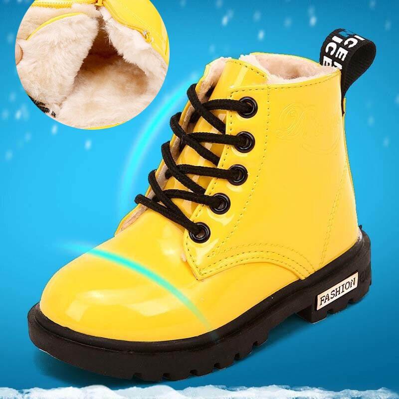 Enfants bottes garçons filles Plus velours espadrilles décontractées course chaussures de sport