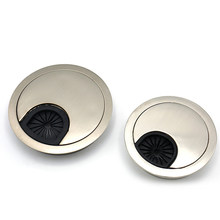 2pcs Table Round Wire Hole Covers Computer Desk Grommet Zinc Alloy Wiring Outlet Port Hole Cover For Home Office Supplies 50mm(China)