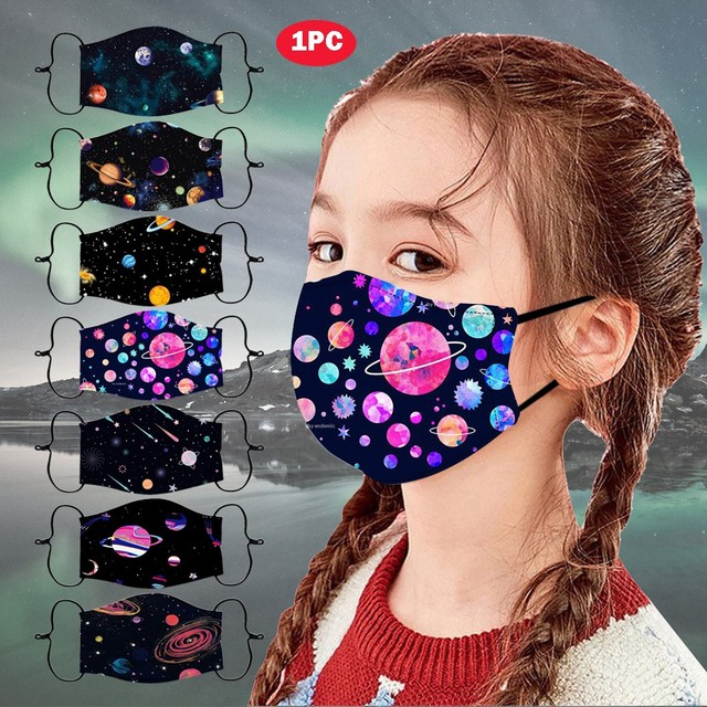 1Pcs Children Washable Cute Cartoon Outdoor Printed Mouth Caps Kids Boys Girls Washable Adjustable Cartoon Lovely Mask Cover 814 1