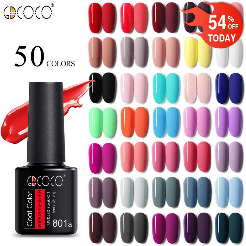 GDCOCO soak off Gel Di Base Prodotti Per Superficie E Smalti Matte Top Gel del Gel del chiodo Lacca 8 ml manicure commercio all'ingrosso di lunga durata per unghie gel di colore