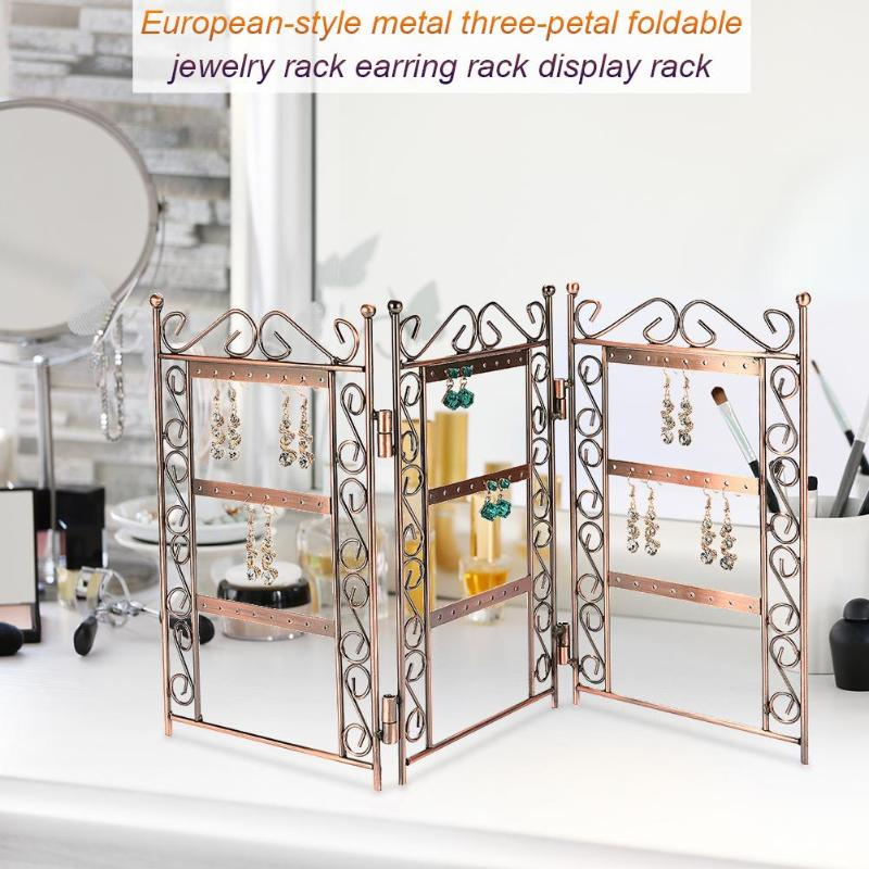 3 Flaps Jewelry Organizer Earring Storage Nice Jewelry Hanging Holder Rack Jewelry Display Stand Earrings