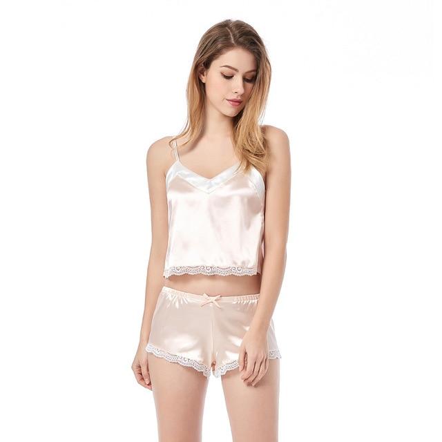 пикантные пижамные комплекты летний женский комплект милые розовые фотография