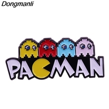 P4795 Dongmanli Pac-Man Enamel Pins Brooches for Women Fashion Lapel Jewelry Backpack Bags Badge Gifts