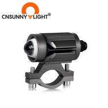 CNSUNNYLIGHT 미니 트라이 모델 오토바이 LED 헤드 라이트 바이 컬러 프로젝터 렌즈 자동차 ATV 운전 스포트 라이트 안개 보조 DRL 라이트