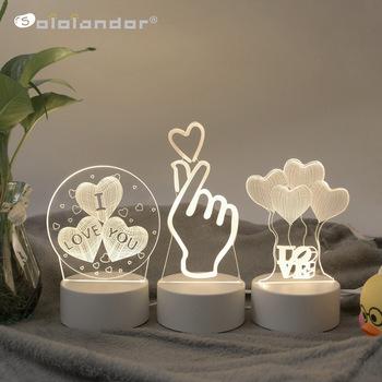 SOLOLANDOR 3D LED lampa kreatywna 3D LED lampki nocne nowość Illusion lampka nocna 3D Illusion lampa stołowa do domu oświetlenie dekoracyjne tanie i dobre opinie Noc światła Round AYG02NN0002DIY Z tworzywa sztucznego None LED Bulbs Zawsze na Awaryjne 0-5 w Creative 3D LED Night Lights