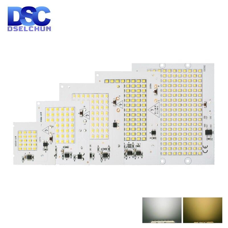 10W 20W 30W 50W 100W LED Chip SMD 2835 Flood Light Beads AC 220V-240V Led Floodlight Lamp DIY For Outdoor Lighting Spotlight