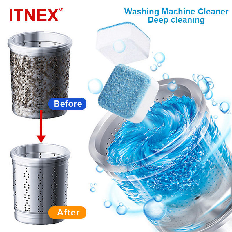 1/5/10/24PCS Tab Washing Machine Cleaner Washer Cleaning Detergent Effervescent Tablet Washer Cleaner Home Deep Cleaning tool 1