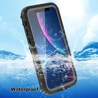 Funda impermeable IP68 para iPhone 12 Pro Max, funda transparente a prueba de agua para iPhone 11 Pro Max X Xs Max XR