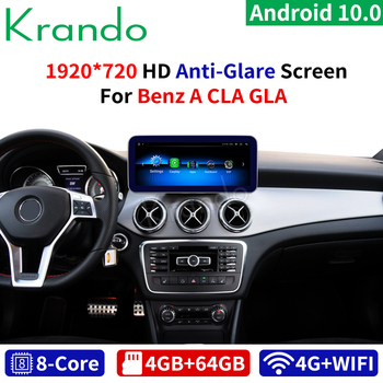 Krando Android 10.0 4G+64G 10.25'' Car Radio for Mercedes-Benz A W176 CLA C117 GLA X156 2012-2020 NTG 4.5 5.0 5.5 AUDIO Player image