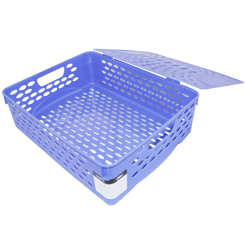 DL Right 923 File Basket A4 With Cover Document Basket Thickened Plastic File Box Collection  Financial Use Stationery Office