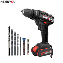 цена на 21V Mini drill Electric Impact Cordless Drill  Rechargeable Home Electric Screwdriver Power Tool  2 Speed