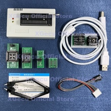 Черная розетка ZIF V10.27 XGecu TL866II Plus, программатор 15000 + IC SPI Flash NAND EEPROM MCU PIC AVR + 6 адаптеров + экстрактор PLCC