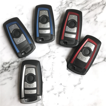 New colorful replacement smart key shell FOB housing case with Uncut Blade For BMW 1 3 5 Series F10 F20 F30 F40 image