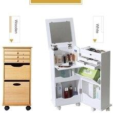Белый Мини туалетный столик, набор для спальни, маленькая Складная раскладушка, мобильный макияж, шкаф, стол с ящиком, зеркало, сюрприз, подарок