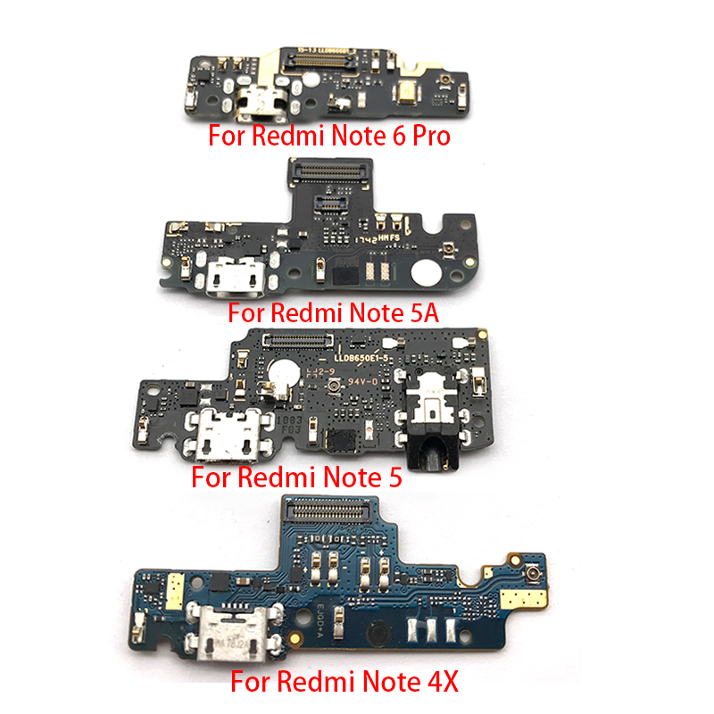 For Xiaomi Redmi Note 4 4X 5 5A 6 7 3 Pro Se 152mm Dock Connector Micro USB Charger Charging Port Flex Cable Microphone Board
