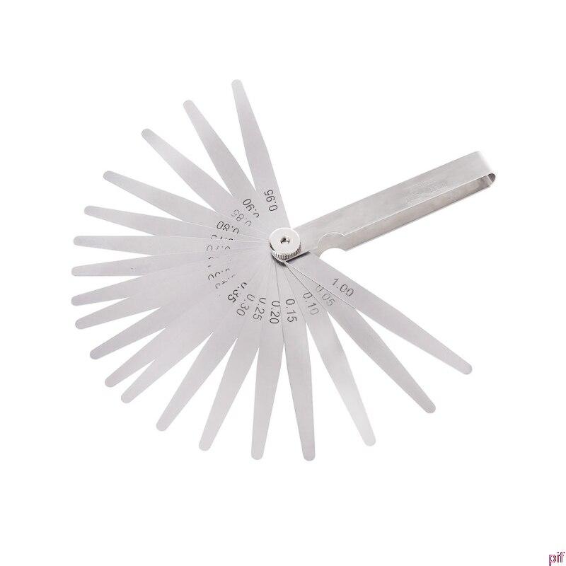 0,05-1 мм 20 лезвий щупа Калибр толщина измерительный инструмент метрический зазор наполнитель