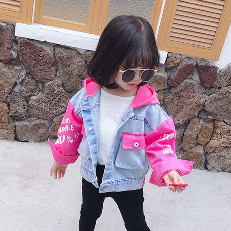 New 2020 Denim Jackets for Girls Patchwork Casual Coats Kid's Jean Jacket Children Girls Clothes Jackets For Baby Toddler 1-6Y