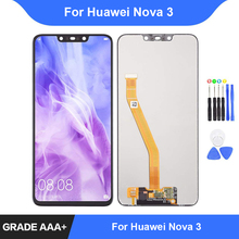 For Huawei Nova 3 LCD Display Touch Screen Digitizer Assembly Repair Parts for Huawei Nova 3i Display with Frame Replacement недорго, оригинальная цена