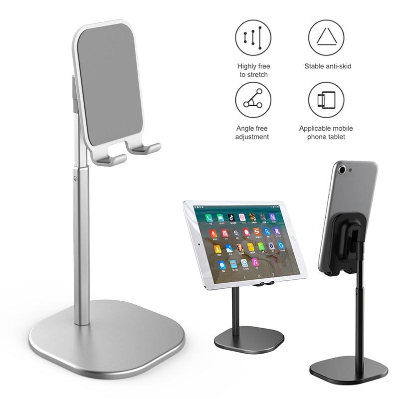 Cell Phone Desk Stand Holder Adjustable Aluminum Desktop Portable Universal Desk Stand For All Mobile Smart Phone