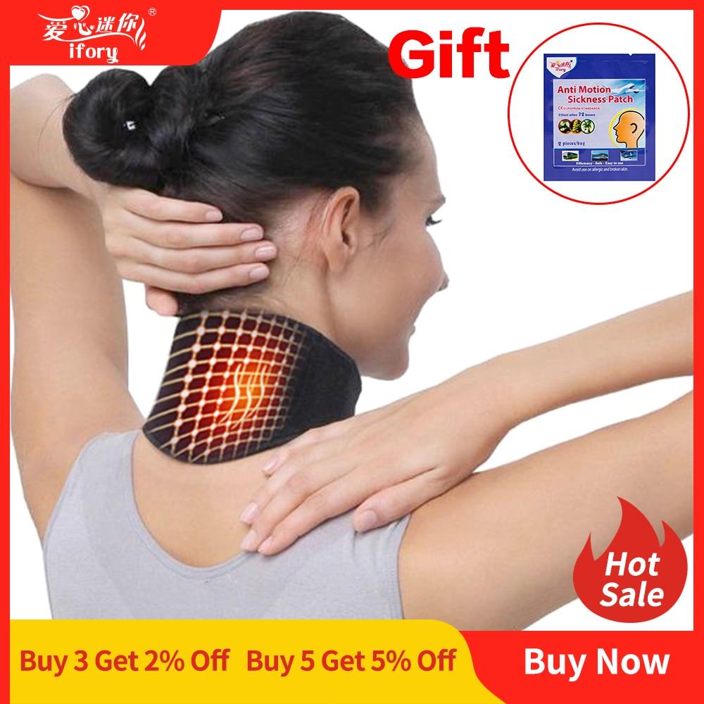 Masajeador Ifory con soporte para el cuidado del cuello para la salud 1 Uds. Cinturón de cuello autocalefactable con turmalina protección espontánea masajeador corporal de cinturón