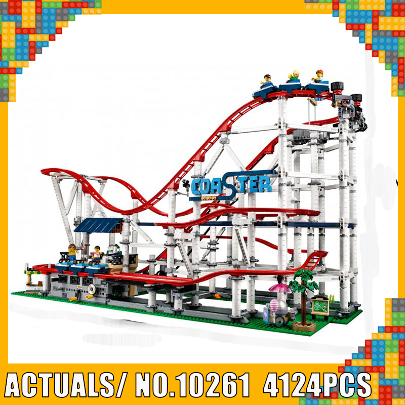 The Roller Buidling Blocks Bricks Coaster Compatible 15039 Creator 10261 lEGOED Model Set Educational Toy Christmas Gift For kid(China)