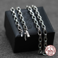 925 sterling silver necklace personality fashion popular cross chain punk hip hop style to send gifts for lovers 2019 new hot