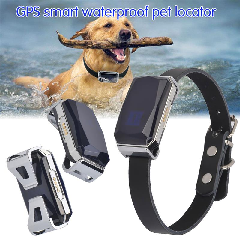 GPS Smart Waterproof Pet Locator Universal Waterproof GPS Location Collar For Cats And Dogs Positioning Tracker Locating