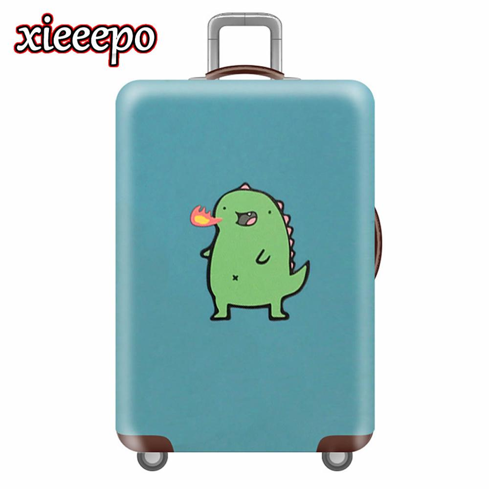 Kawaii 3D Monster Luggage Cover Protective Case Waterproof Thicken Elastic Suitcase Cover Fr For 18-32 Inch XL Travel Accessorie