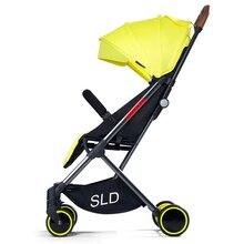 SLD/детская коляска, может лежать, ультра-светильник, переносная складная детская коляска для новорожденных, простая детская коляска