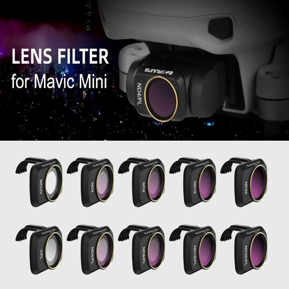 RC Drone Lens Filter Set ND CPL NDPL MCUV Kits for Mavic Mini Airplane Mini Camera