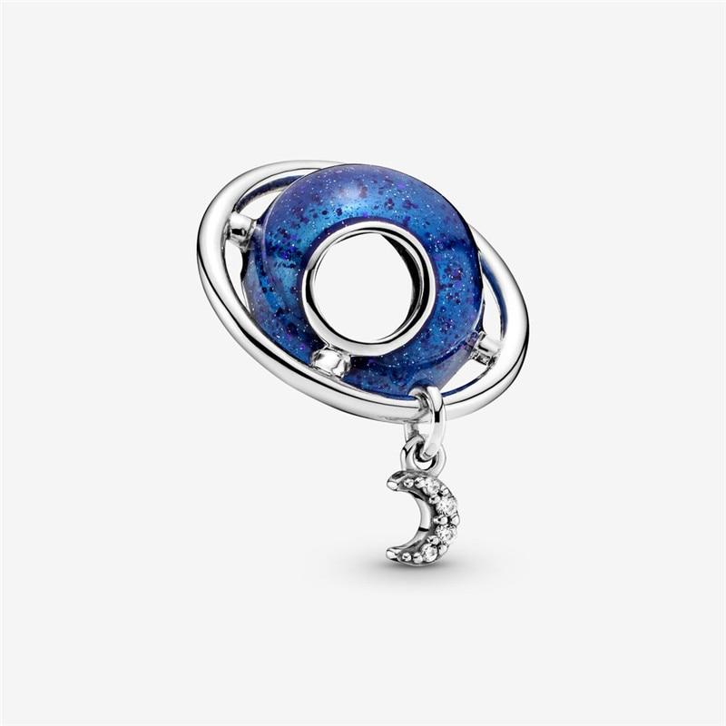 925 стерлингового серебра Луна вращается вокруг Земли, соответственные Европейской оригинальный мобильный телефон 3 мм браслет, браслет на з...