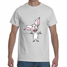 Nueva camiseta blanca de manga corta con cuello redondo y cuello redondo de la película de dibujos animados de S-3Xl