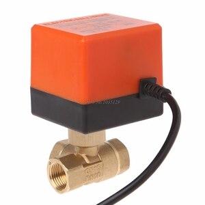 Image 5 - 3 طريقة صمام كروي مزود بمحرك كهربائي ثلاثة خط التحكم في اتجاهين التيار المتناوب 220 DN15/DN20/DN25 دروبشيب