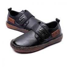 Dziecięce buty ze skóry naturalnej dla chłopców szkolne ubranie z pokazu buty mieszkania klasyczne brytyjskie buty Oxford dziecięce mokasyny ślubne mokasyny tanie tanio RUBBER Chłopcy Pasuje prawda na wymiar weź swój normalny rozmiar 10 t 11 t 12 t Mikrofibra Mieszkanie z Microfiber Currency