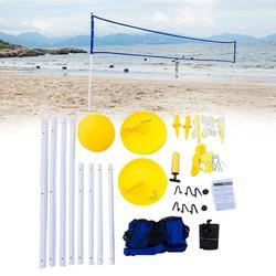 6 pièces/ensemble extrait réglable en hauteur professionnel volley-ball filet ensemble de combinaison maille Outdooor plage entraînement Sports été