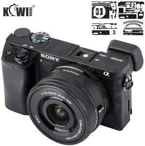 Kiwifotos Anti-Scratch Camera Body Skin Cover Protector Film for Sony Alpha A6100 A6300 A6400 + SELP1650 16-50mm Lens 3M Sticker